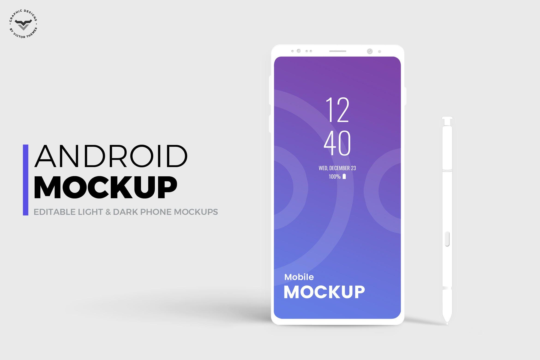 安卓手机模板素材样机Android Mobile Mockups