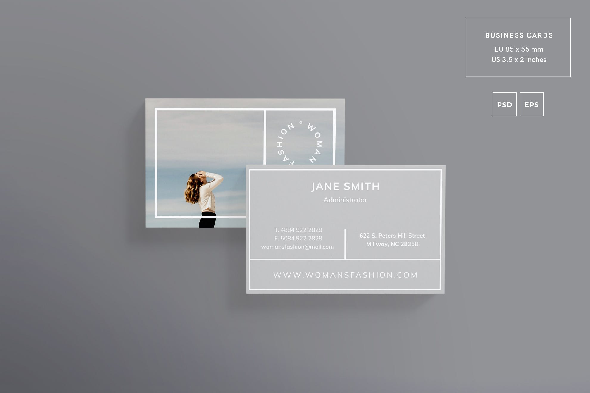 女性时尚名片模板Women Fashion Business Card Template