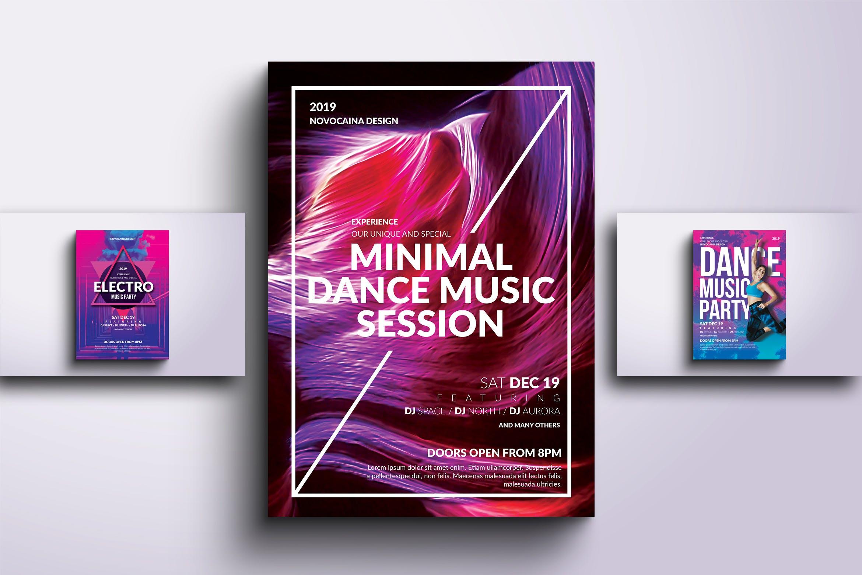 派对舞蹈传单和海报套装Party Dance Flyer & Poster Bundle