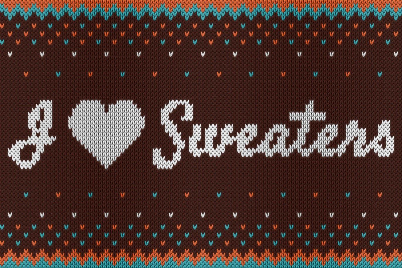 智能特效针织效果 PS样式 I Sweaters - Smart Knitted Effect