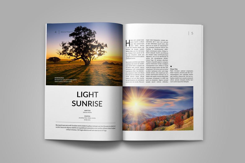 旅游风景画册杂志模板素材下载Magazine Template