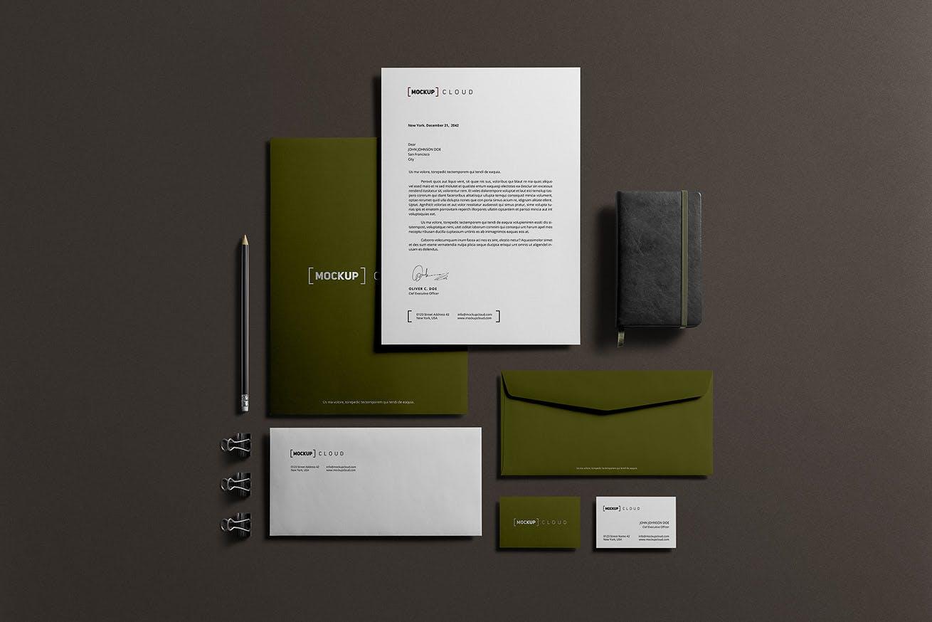 企业文具品牌样机素材下载Corporate Stationery Branding Mockup
