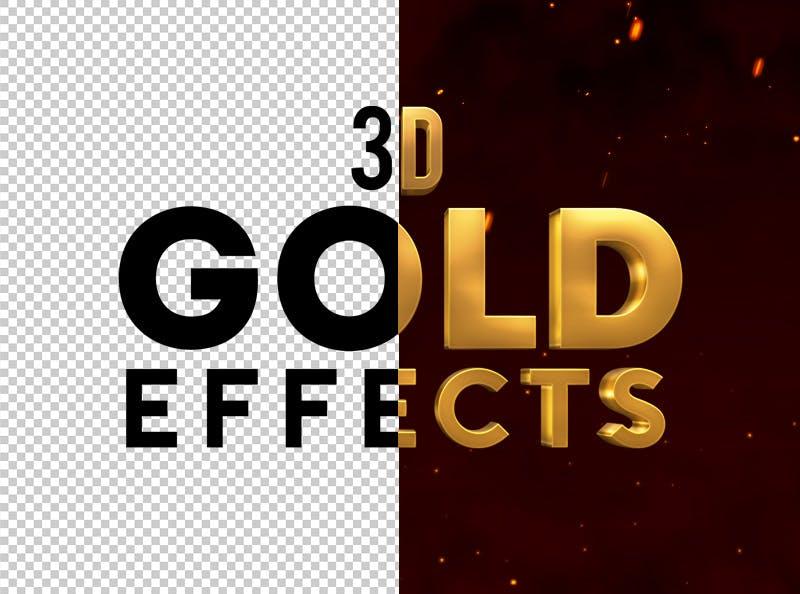 3D金属和金色效果PS特效样式3D Metal & Gold Effects