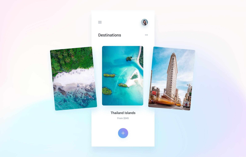 扁平化IOS风格旅行和预订移动应用APP Travel & Booking Mobile App Template UI Kit