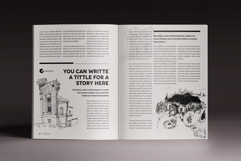 现代设计感杂志画册模板素材下载Design Magazine 8 Indesign Template