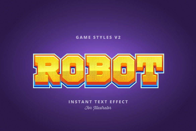 Illustrator的游戏风格字体特效游戏字体设计 Game Styles for Illustrator V2