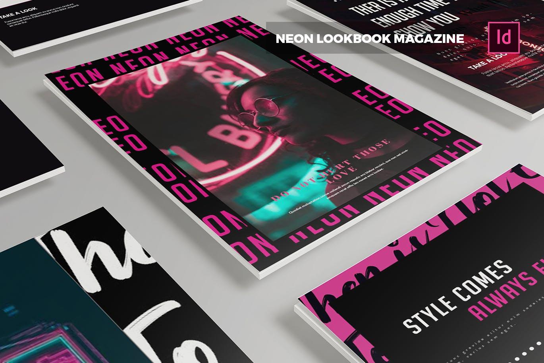 都市夜生活画册素材模板下载Neon Lookbook | Magazine