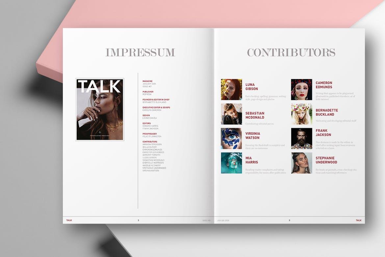 个人写真集画册素材模下载TALK | LIFESTYLE MAGAZINE