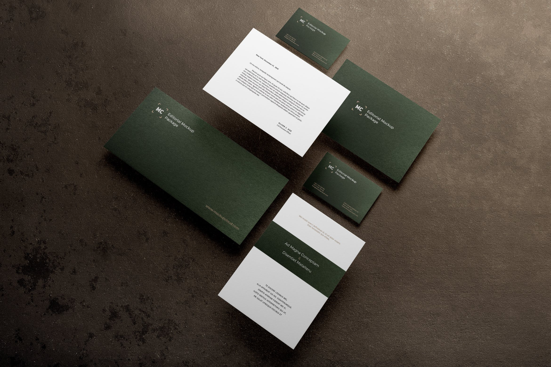 企业品牌形象识别系统模板样机素材展示Stationery Branding Mockup Vol. 1