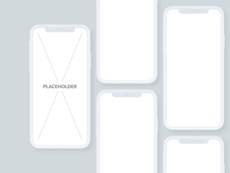 扁平化设计样机素材模板展示效果下载模板Presentation Mockups Light