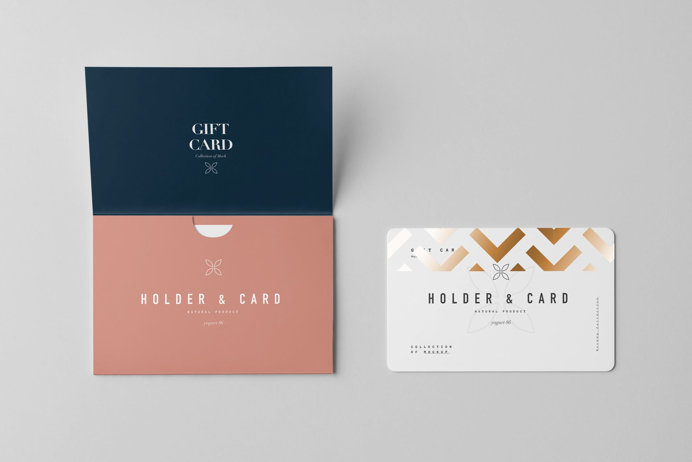 精致高端品牌卡片信封素材样机下载Holder & Card Mock-Up