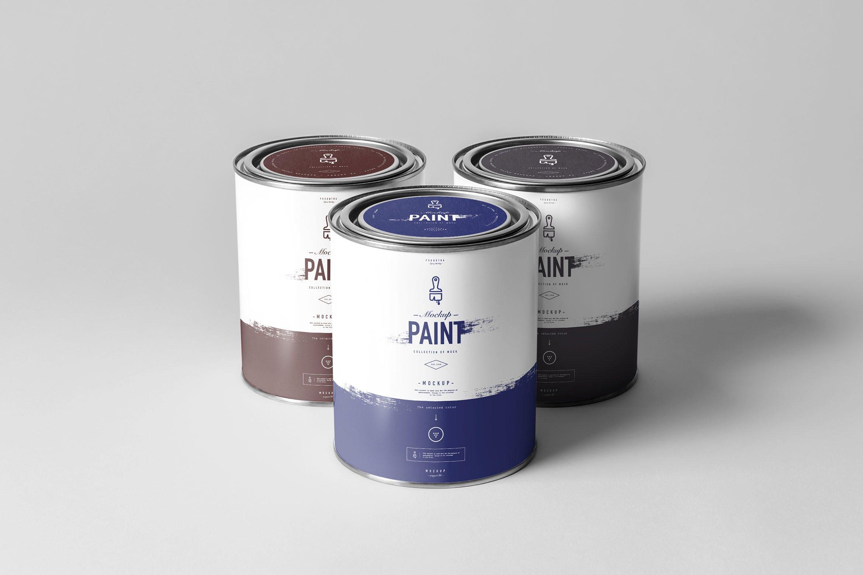 精致罐头包装罐样机素材下载Can of Paint Mock-up