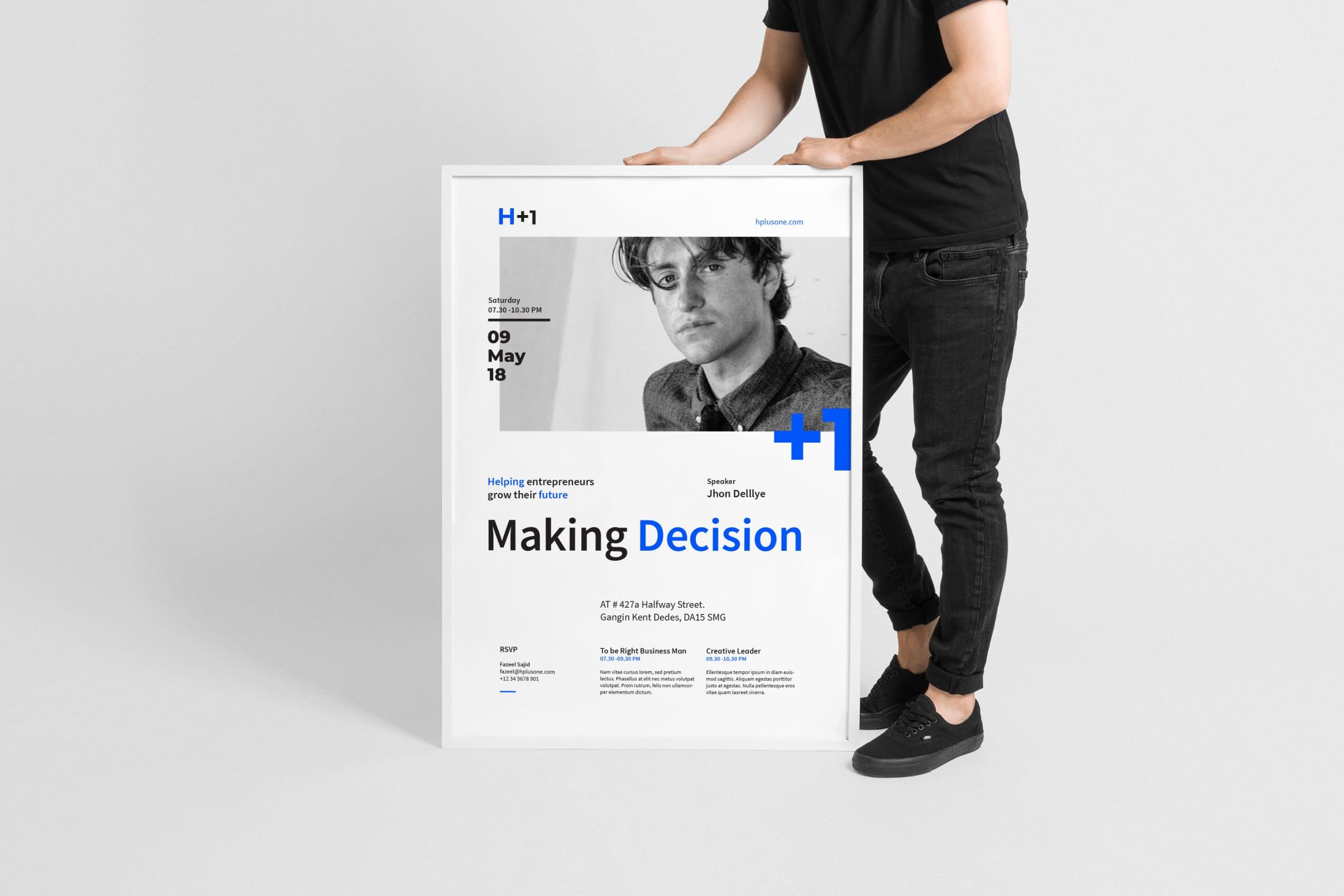 设计感海报商业研讨会传单/海报Business Seminars Flyer / Poster