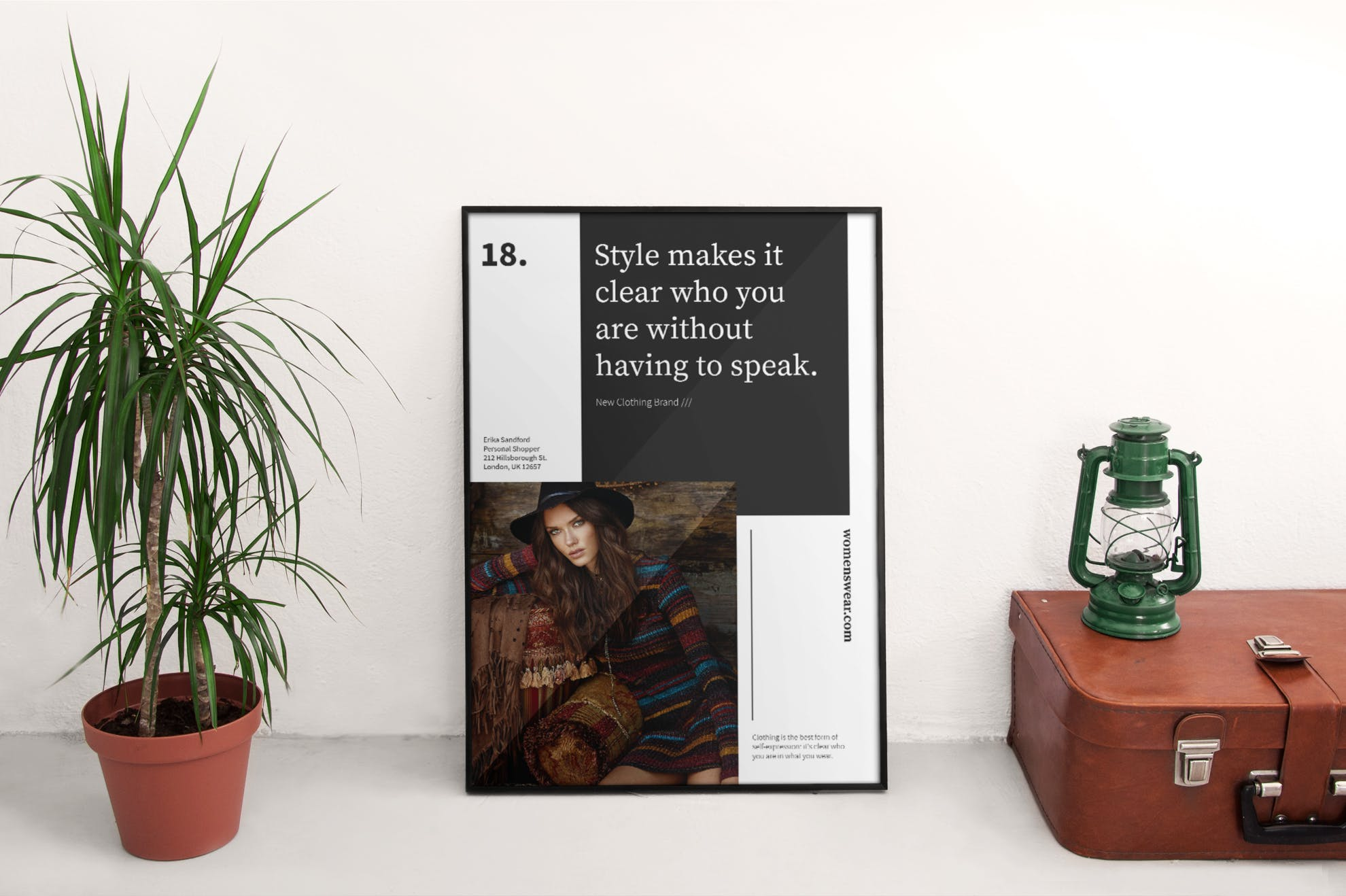 高端品牌服装传单和海报模板Shopper Services Flyer and Poster Template Ba2n7p