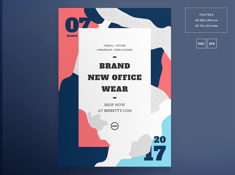 时尚店传单和海报模板Fashion Shop Flyer and Poster Template