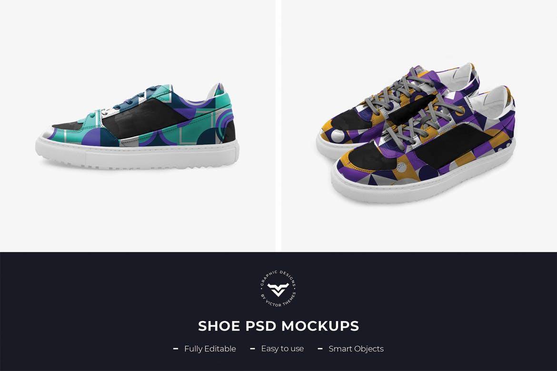 鞋子模板素材样机展示下载Shoes PSD Mockup Template
