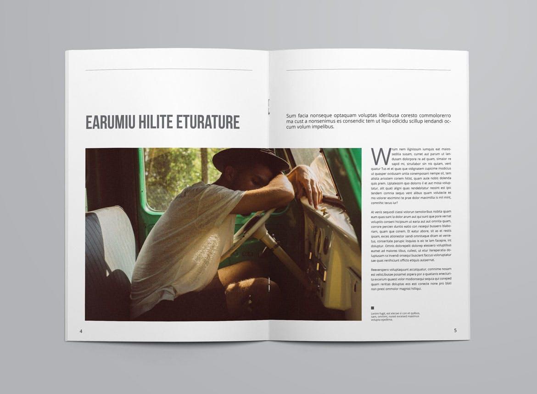 企业画册模板素材下载Minimal Magazine Template