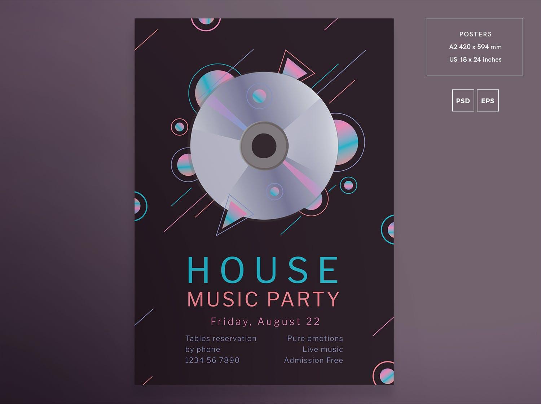 音乐派传单和海报模板Music Party Flyer and Poster Template