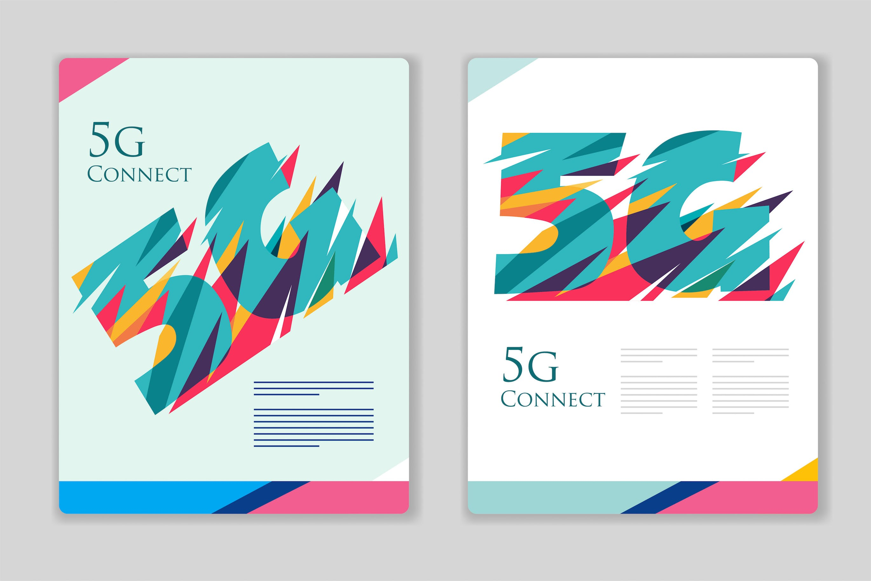 5G宣传海报/传单模板素材5G poster template colorful