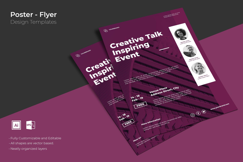 创意海报设计模板素材传单/海报SRTP - Poster Design.13