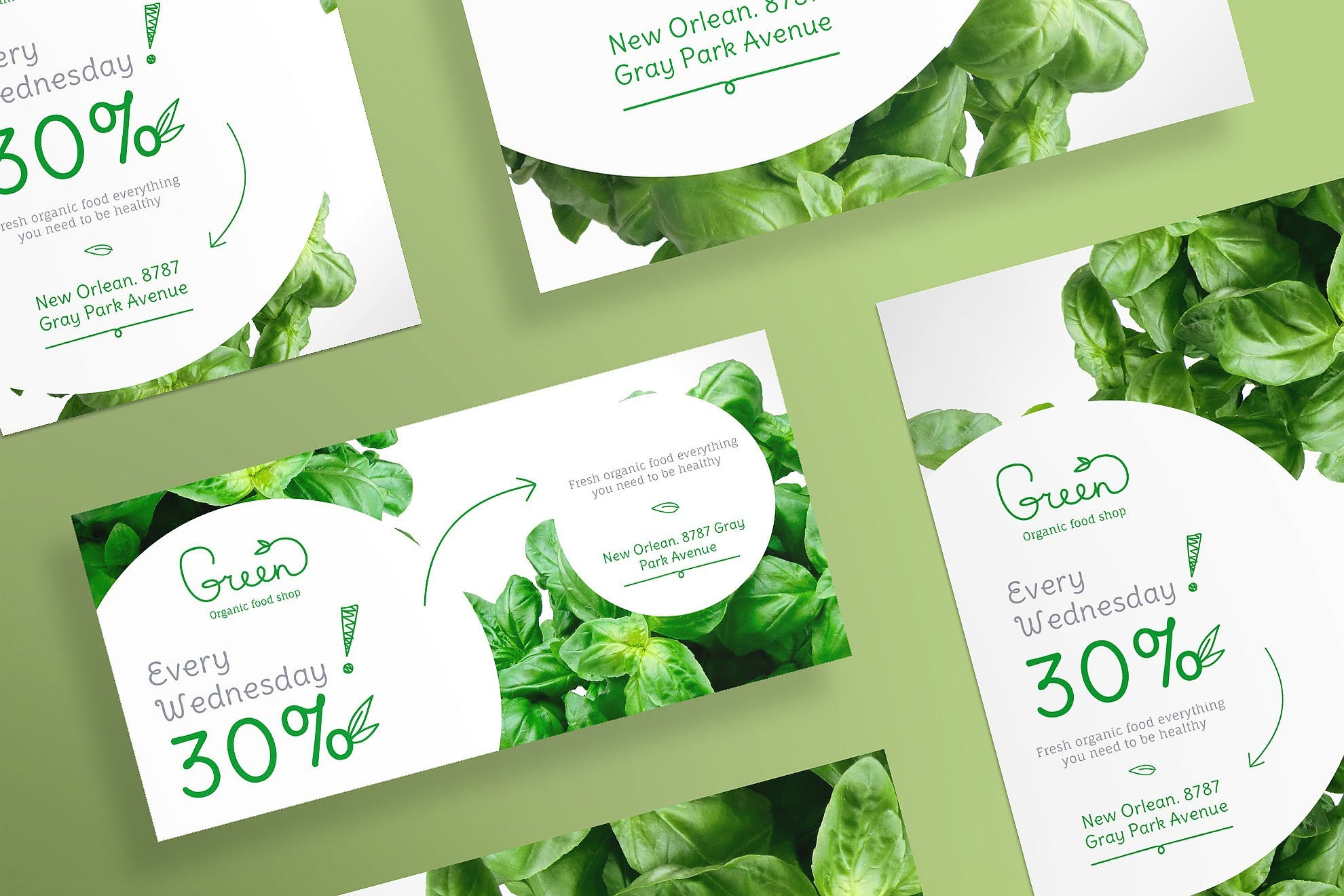 有机食品传单和海报模板Organic Food Flyer and Poster Template