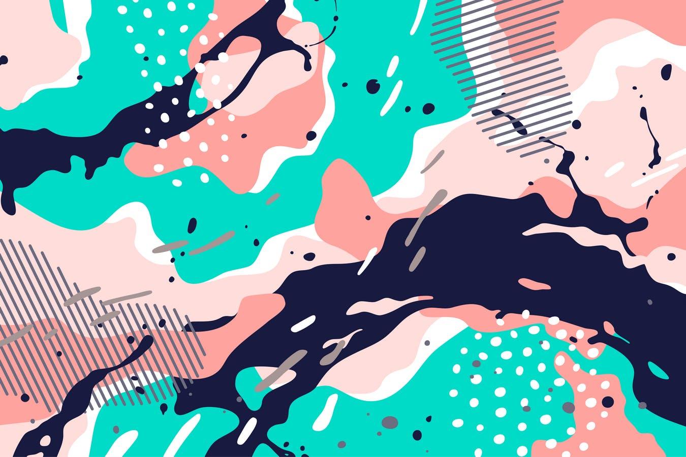 抽象背景多色融合Abstract Background