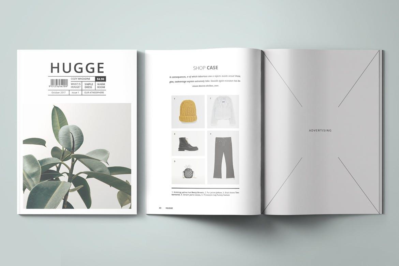 绿植杂志素材模板素材展示Hugge Magazine Template