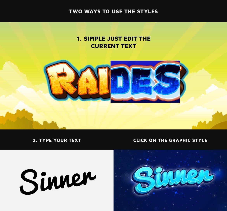 游戏LOGO图标卡通文字样式 Game Logo Text Styles