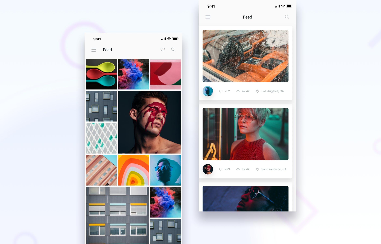 IOS12风格社交媒体新闻APP  Brake UI Kit 2.0 - Social Media News Feed