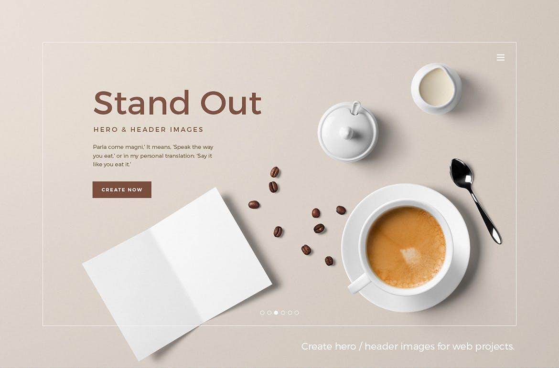 咖啡美食甜点样机素材模板展示样机下载Coffee Branding Mockup