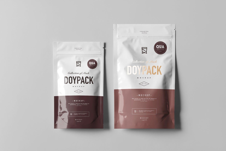 高级食品自封袋样机素材模板样机下载Doypack Mock-up 2