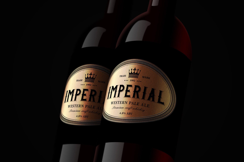 威士忌品牌标签样机素材模板展示下载9 Whiskey Brands Label V2