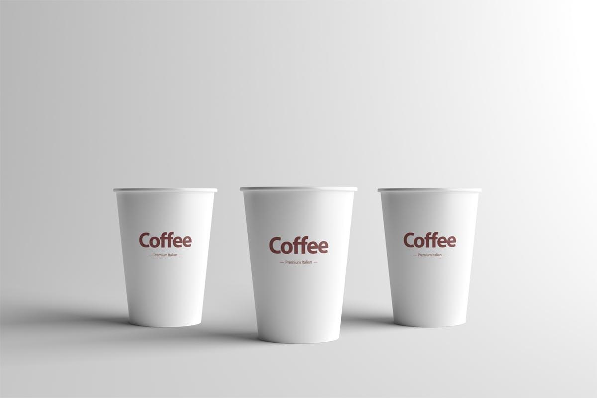 纸咖啡杯样机模板素材下载Paper Coffee Cup Mock-Up - Small