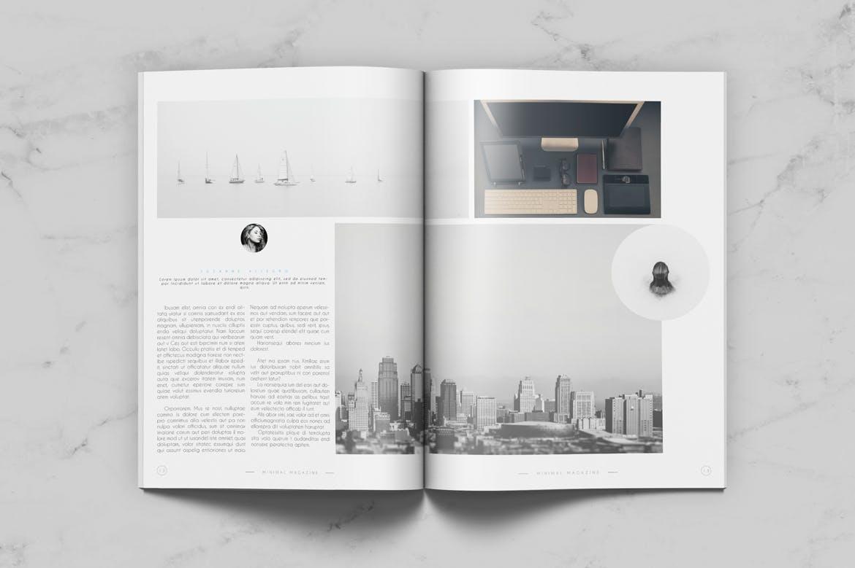 企业通用类型杂志模板素材下载Minimal Magazine