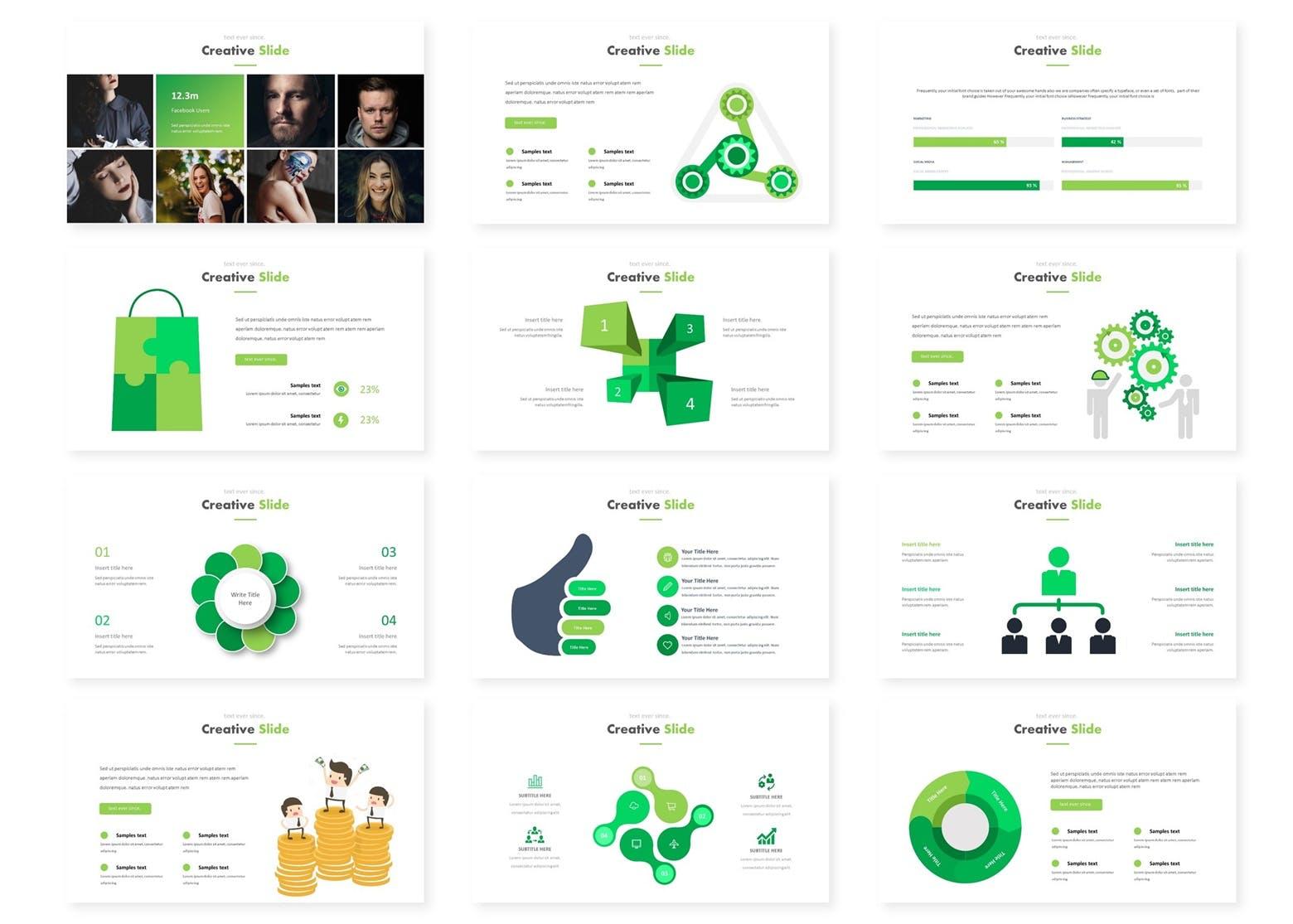 欧美时尚现代风格多用途商务PPT模版 Mozario - Powerpoint Template