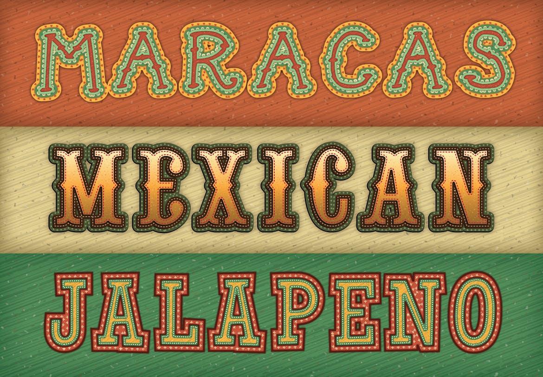墨西哥文字特效设计效果 Mexican Text Effects