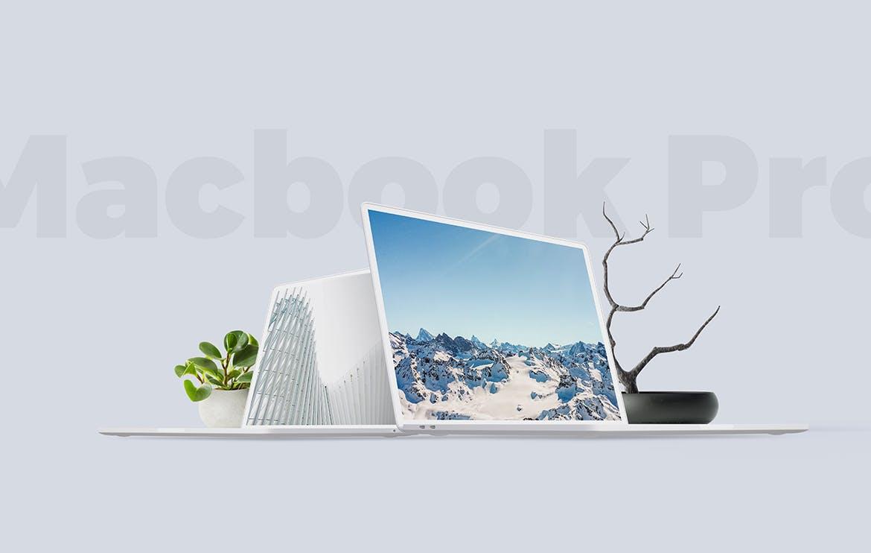 笔记本电脑素材模板展示样机下载Macbook Clay Mockup