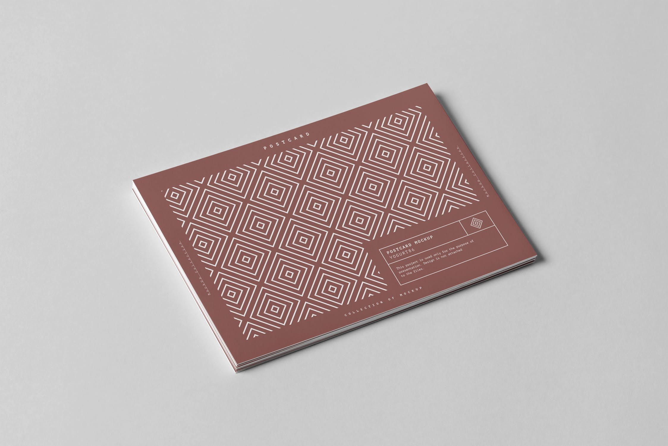 精致名片样机素材模板展示素材下载Postcard Mock-up