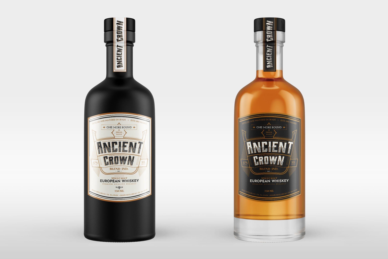 威士忌酒瓶样机素材模板下载Whiskey Bottle Mock-Up