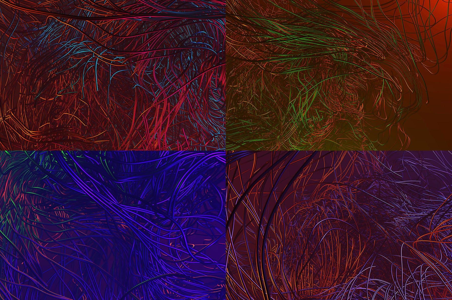 15个未来派3D背景Tentacles - 15 Futuristic 3D Backgrounds