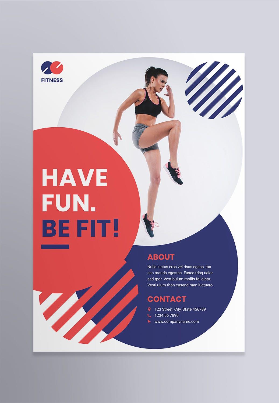 健身教练教练海报宣传模板素材Fitness Trainer Coach Poster