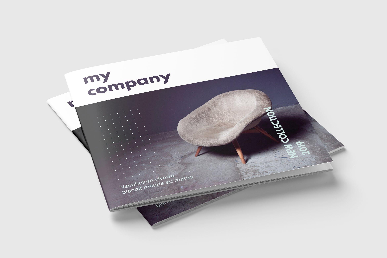 北欧风家居产品类画册杂志素材模板下载Square Magazine or Brochure Template