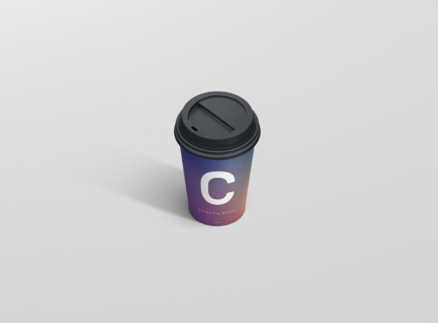 咖啡杯样机小型热饮杯模板素材下载Coffee Cup Mockup Small Size