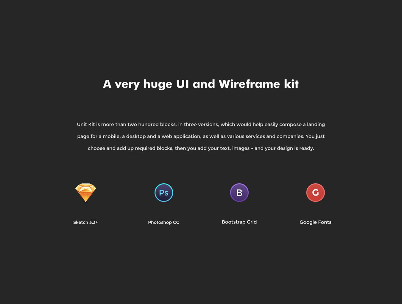 响应式全面完整的网站ui设计ui素材UI组件套装模板下载[Sketch,PSD]  Unit Kit 2