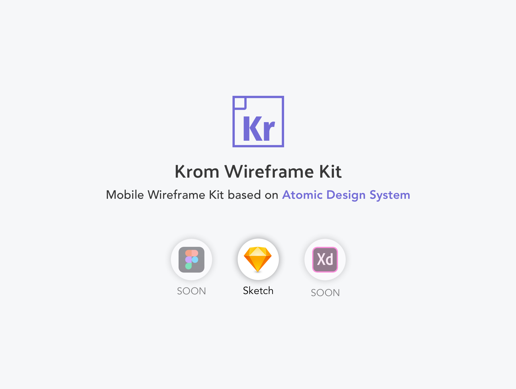 移动端线框图APP UI KIT套装模板下载 [Sketch] Krom Mobile Wireframe Kit