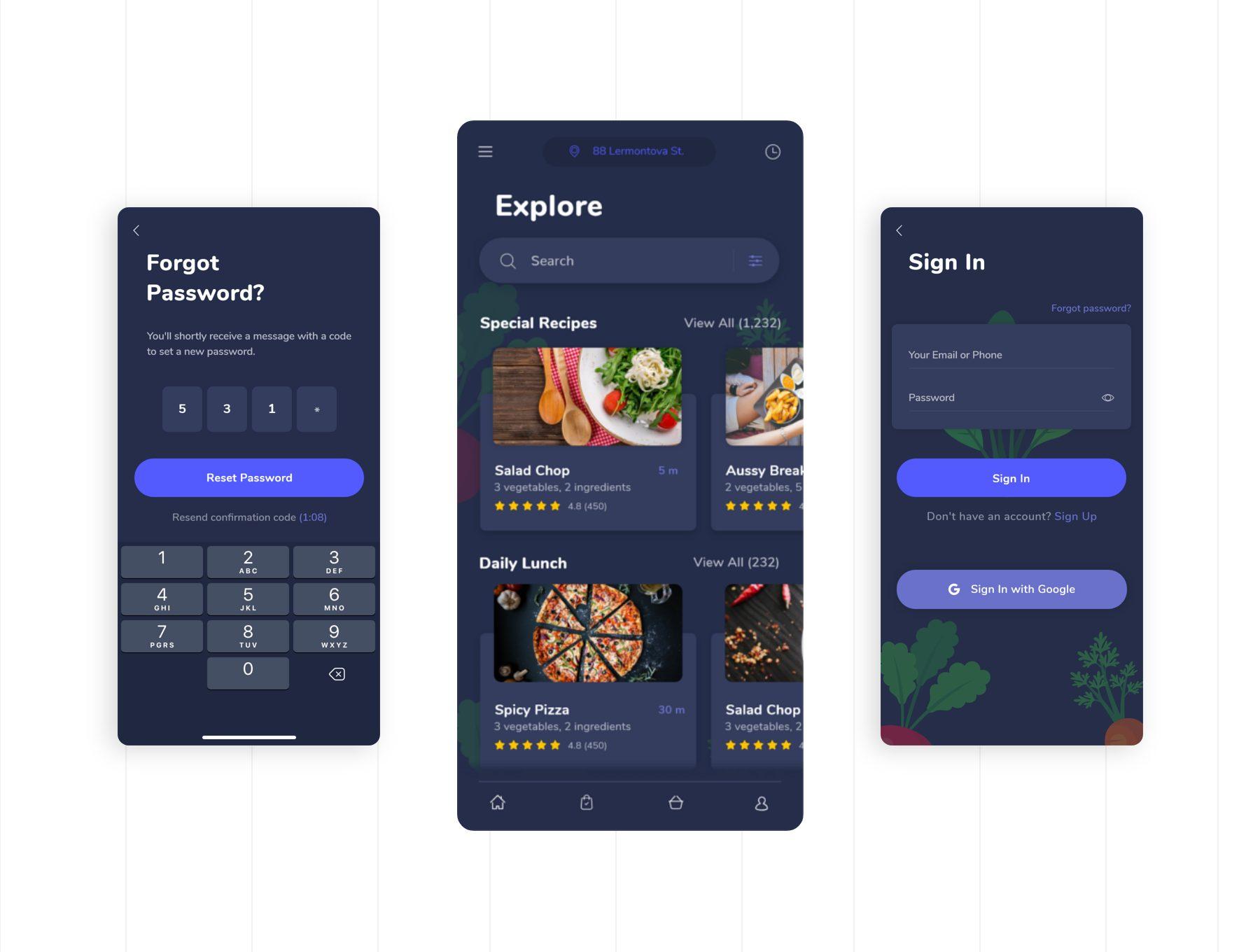 食品生鲜类app设计iOS Ui 套装下载 [XD] FoodGo the Best Grocery