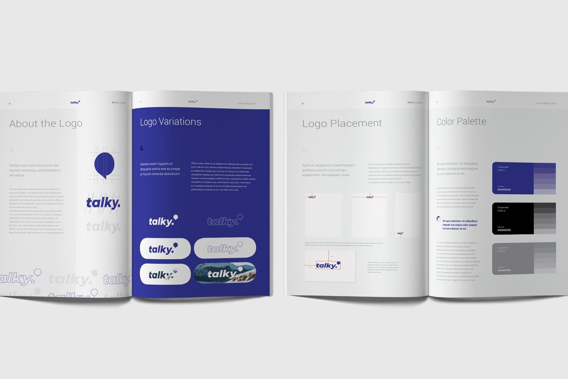 企业品牌识别系统模板素材下载Brand Guideline Rynkby