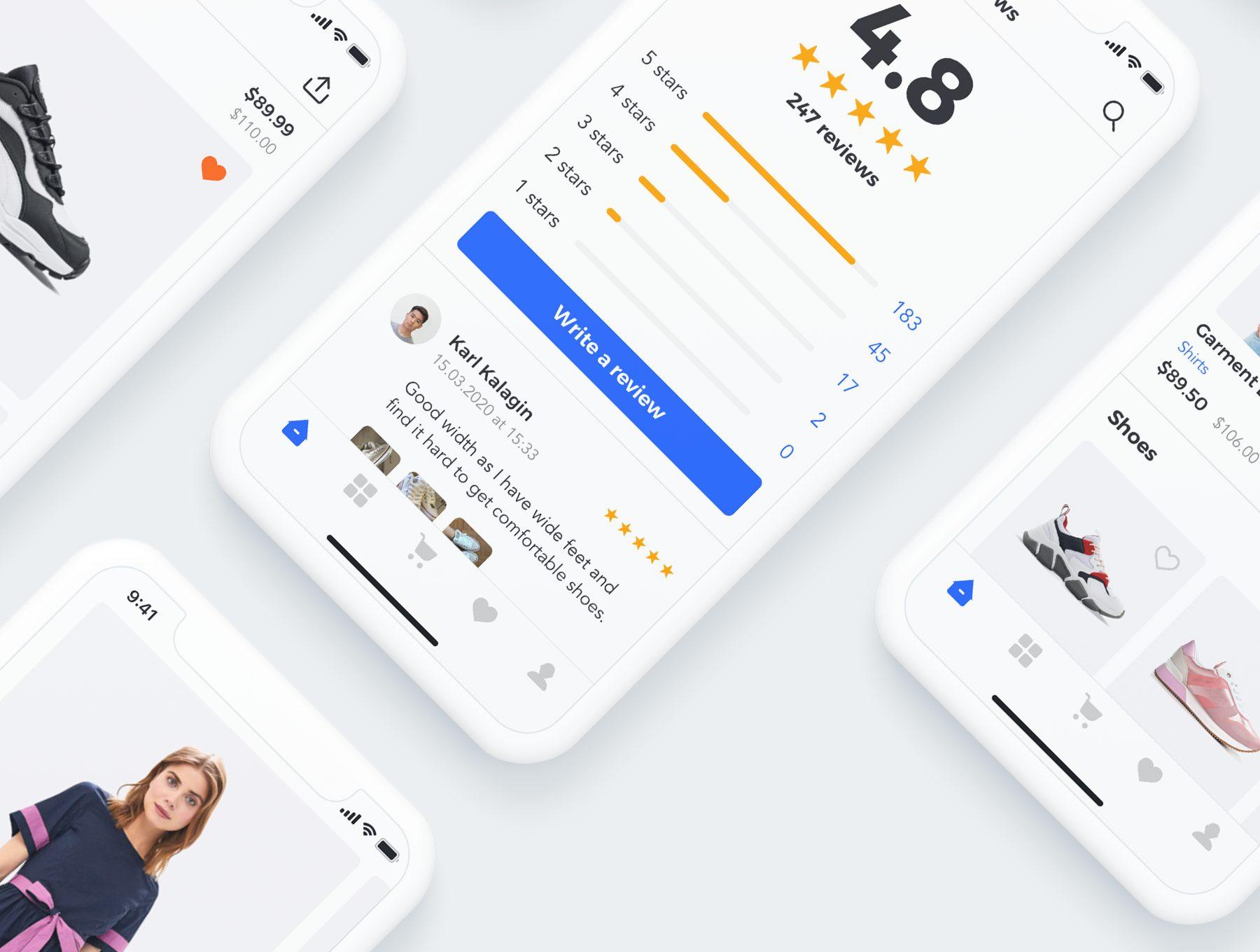 时尚服饰电商APP UI KIT套装 app设计iOS Ui[Sketch,XD] Sector UI Kit E commerce