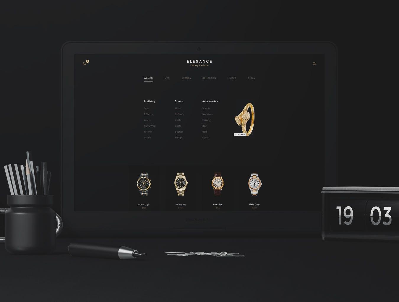 优雅奢华时尚高端APP UI KITS luxury-fashion-ui-kit
