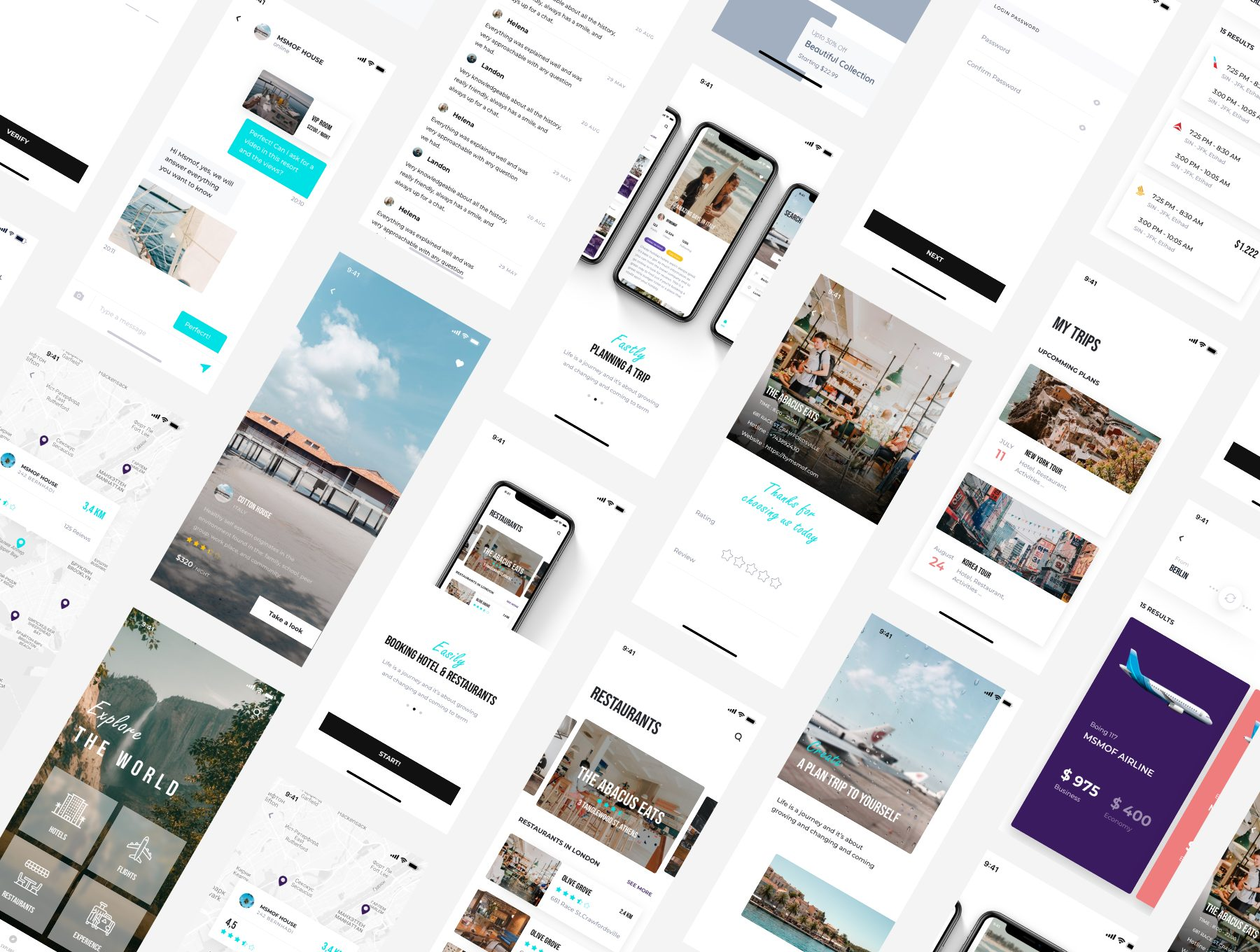 高端的旅行社交主题APP UI KIT套装 app设计 app界面设计 iOS Ui[Sketch,XD,fig] METHYST TRAVEL APP